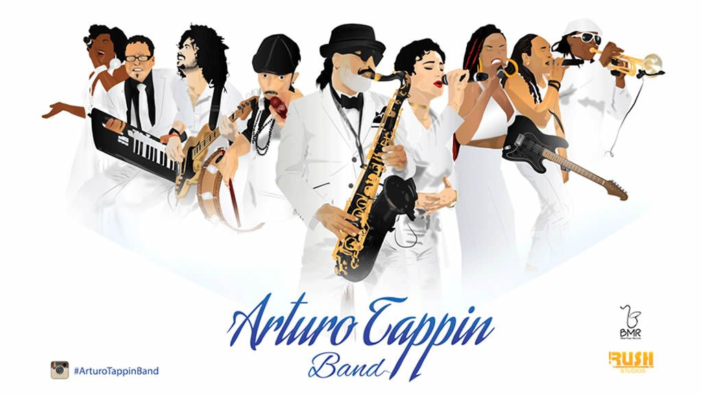 Bequia Mount Gay Music Fest 2019 Arturo Tappin Band on Saturday Night at De Reef
